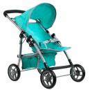 doll pram stroller met 28x48 turquoise powder