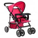 Puppe Kinderwagen Kinderwagen traf 31x48 rosa 9304