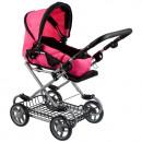 stroller for dolls glebo met 36x50x23 pink 2funk 3