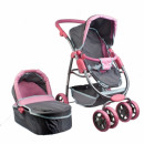 doll pram deep met 37x69x18 gray 2fun 3