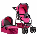 stroller for dolls glebo met 37x69x18 pink 2funk 3