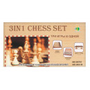 wholesale Wooden Toys: 3-in-1 wood chess game 30x3x16 box 84