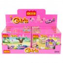 Großhandel Spielwaren: Bausteine 19x14x5 mix8 Mädchen