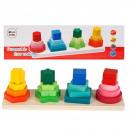 pyramides en bois 28x8x8 boîte 70