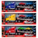 Großhandel Spielwaren: Auto Pull Back Truck + Zubehör 47x16x9 mix3