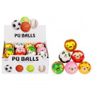 grossiste Sports & Loisirs: boule anti-stress 6cm animal mix6