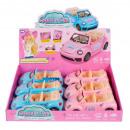 wholesale Models & Vehicles: doll car sound / light pull back 17cm mix2