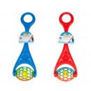 speelgoed voor het duwen van de bal met rammelaar