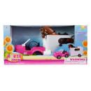 doll car + horse + accessories 63x30x21 window b