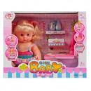 doll box 25cm + accessories potty k0059 window box
