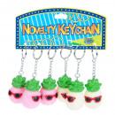 groothandel Stationery & Gifts: sleutelhanger kauwgom ananas light 6cm zakje ...