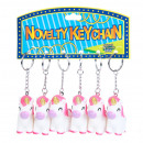 wholesale Gifts & Stationery: keychain one horned light 7cm bag with a pendant