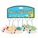 groothandel Stationery & Gifts: sleutelhanger, gom alpaca light 6cm zakje met hang