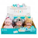 Großhandel Spielwaren: Babypuppe 20cm mc animal mix5 na Aufsteller