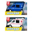 wholesale Toys: emergency car sound / light pull back 20x11x9 mc