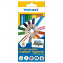 pencil crayons 12 colors / 180 triangular prima ar