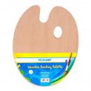 palet voor hout, ovale verf 30cm pa folie