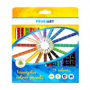 24kol / 180 pencil crayons triangular prima art pu