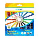 24kol / 180 lápices de colores triangulares prima
