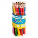 pencil crayons 12kol / 180jumbo triangular pa tubo
