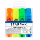 Highlighter 4 colors mix starpak pouch