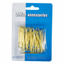 paper clip 50 gold 30pcs starpak off blister