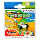Wachsmalstifte 12 Farben Starpak Safari Pud
