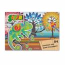 Großhandel Geschenkartikel & Papeterie: Zeichnungsblock a4 / 20k weiße Starpak Safari Foli