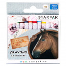 wholesale Gifts & Stationery: wax crayons 12 colors starpak horses pud