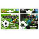 wax crayons 12 colors starpak Football pud