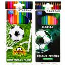 12 Buntstifte / 180 Starpak Footbal Pud