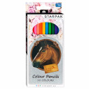 pencil crayons 12 colors / 180 starpak horses pud