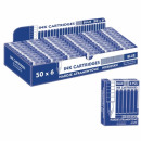 cartridges for feathers, short blue, op6pcs