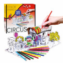 creative set for color circus crayons pud