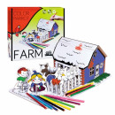 creative set for color farm pencil crayons
