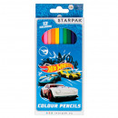 wholesale Gifts & Stationery: 12 color pencil pencils / 180 starpak Hot Wheels