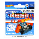 pastelli a cera 12 colori starpak Hot Wheels pud