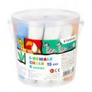 chalk pavement 6 colors bucket 15pcs Safari