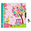 diary closed 135x135 starpak owl pink wor