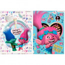 folder with paper eraser a4 starpak Trolls foil