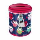 Großhandel Geschenkartikel & Papeterie: Sparschwein erfüllt runde Starpak Eule Tasche