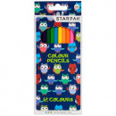 pencil crayons 12 colors / 180 starpak owls pud
