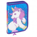 sequin pencil case 1 zipper 2 stk35 unicorn wings