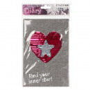wholesale Home & Living: sequin notebook starpak a5 heart pouch with suspen