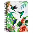 spiraal notebook starpak vogels 14,5x10,5 cm worec