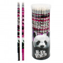 wholesale Gifts & Stationery: pencil with eraser starpak panda tube