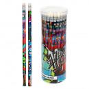 Bleistift mit Radiergummi Starpak Graffiti Tube /