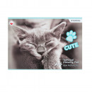 wholesale Gifts & Stationery: technical block a4 / 10k white cats foil
