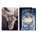 folder with paper eraser a4 starpak cats foil
