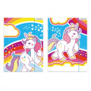 folder with paper eraser a4 starpak unicorn foil